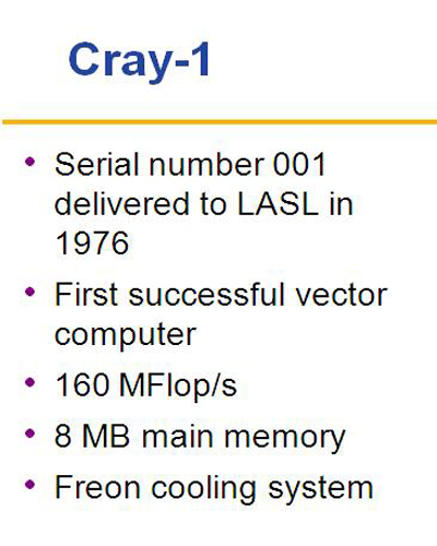 Cray_1 Features